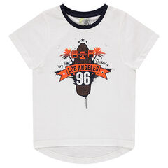 "Short-sleeved tee-shirt with ""Los Angeles"" print"