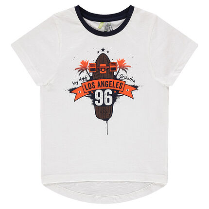 """Short-sleeved tee-shirt with """"Los Angeles"""" print"""