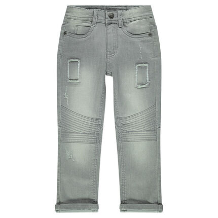 Junior - Slim-cut jeans with interplay of seaming and topstitching
