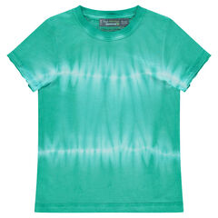 Shibori jersey short sleeve t-shirt