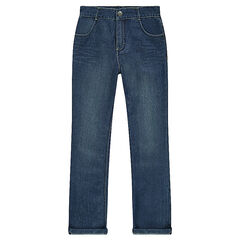 Junior - Faded-effect jeans