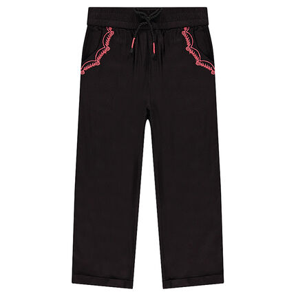 Slim fit pants in coated twill