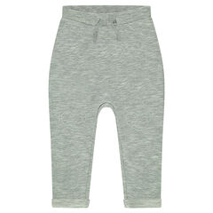 Twisted fleece sweatpants with patches