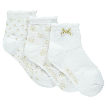 Set of 3 pairs of ankle socks for ceremonies
