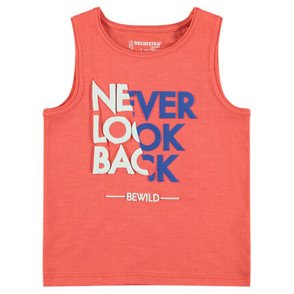 Junior - Jersey tank top with decorative messages