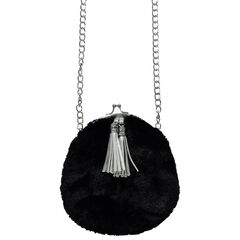 Shoulder bag in fake fur