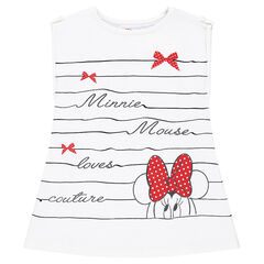 Short-sleeved striped tee-shirt with a Disney Minnie Mouse print