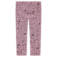 Jersey leggings with allover printed motifs