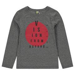Junior - Long-sleeved jersey tee-shirt with printed circle