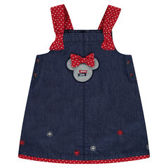 Chambray dress with Disney Minnie patches