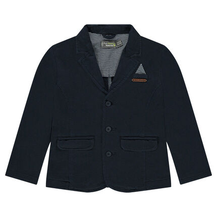 Jersey blazer with fancy welt pocket