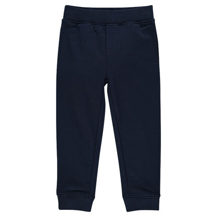 Plain-colored fleece jogging pants