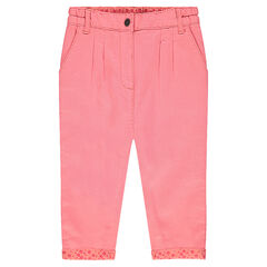 Plain-colored cotton pants