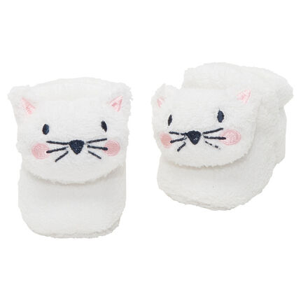 Chaussons en sherpa forme chat