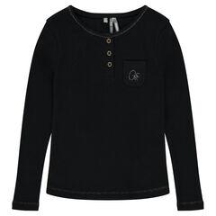 Junior - Long-sleeved ribbed tee-shirt