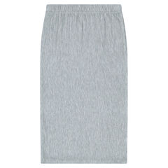 Junior - Mid-length ribbed skirt with slits on the sides