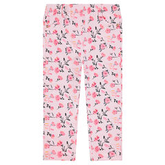 Fleece jeggings with an allover print