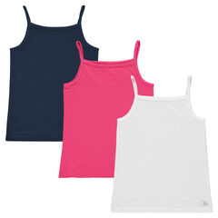 Set of 3 plain-colored tank tops