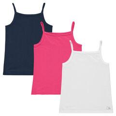 Junior - Set of 3 plain-colored tank tops