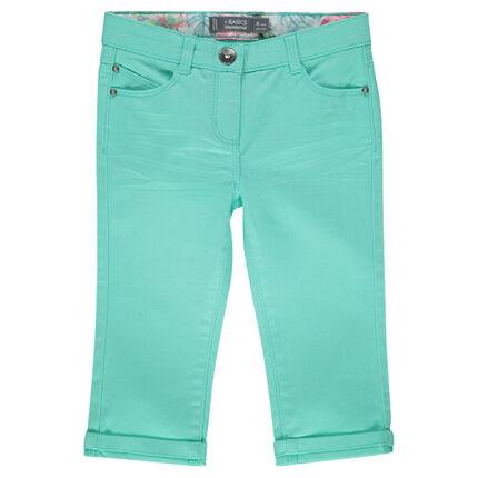 Plain-colored, twill 3/4 pants