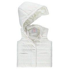 Sleeveless sherpa-lined padded jacket