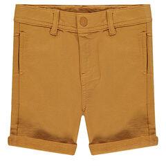 Plain-colored fleece bermuda shorts