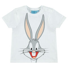 Short-sleeved tee-shirt with Warner Brothers Bugs Bunny print