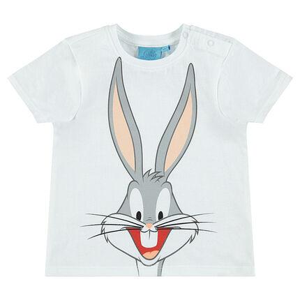 Short-sleeved tee-shirt with Warner Brothers Bugs Bunny print