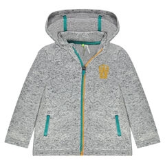 Hooded sweatshirt with zipper
