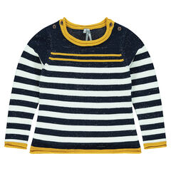 Junior - Striped knit sweater