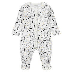 Jersey footed sleeper with pretty allover prints