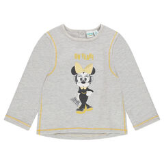 Heathered fleece sweatshirt with Disney Minnie Mouse print