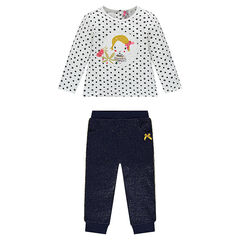 Ensemble with tee-shirt and pants in sparkly fleece