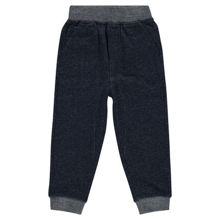 Plain-colored, fleece pants