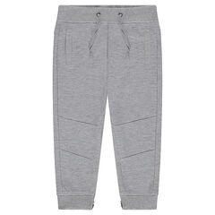 Lightweight fleece joggers with zips