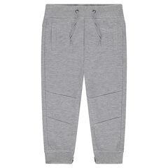 Junior - Lightweight Fleece Jogging Pants with Zips