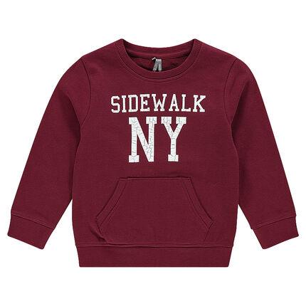 Junior - Fleece sweatshirt with crinkled writing effect