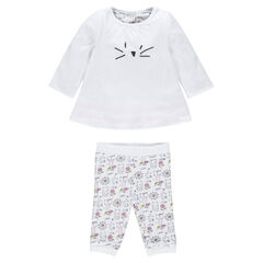 Reversible tunic and leggings newborn ensemble