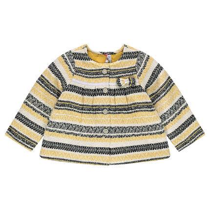 Sparkly striped jacquard jacket