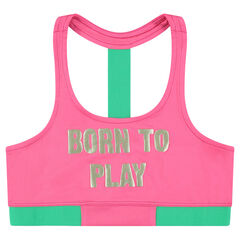 Junior - Sports bra with golden printed message