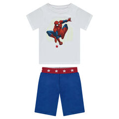 Short jersey pajamas with a glow-in-the-dark ©Marvel Spiderman print