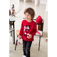 Long-sleeved jersey tee-shirt with a ©Disney Mickey Mouse print