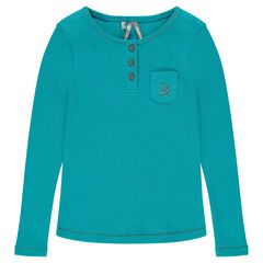Junior - Long-sleeved ribbed tee-shirt