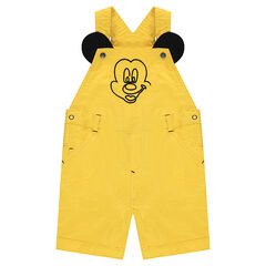 Short cotton overalls with ©Disney Mickey Mouse embroidery