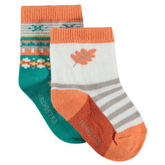 Assorted socks with a jacquard motif