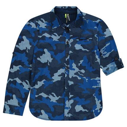 Junior - Long Sleeve Army Shirt