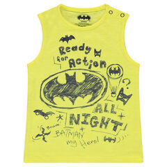 Slub jersey tank top with ©Warner Batman prints