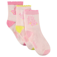 Set of 3 pairs of matching socks with jacquard ©Disney princesses