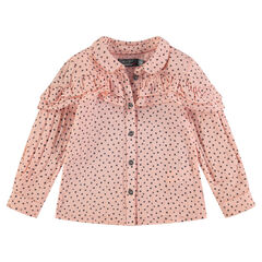 Long-sleeved shirt with allover stars and frills