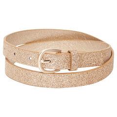 Golden belt with sparkles